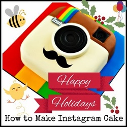 How to make an instagram themed cake