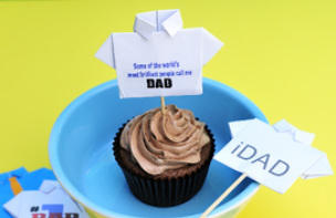 Fathers Day T-shirt Cupcakes