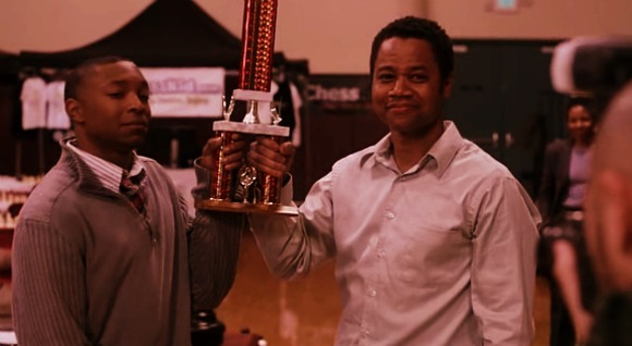 Coach Eugene Brown and Chess master Tahime with the runner up's trophy in Washington DC chess open | life of A king 2014 | inspirational movies