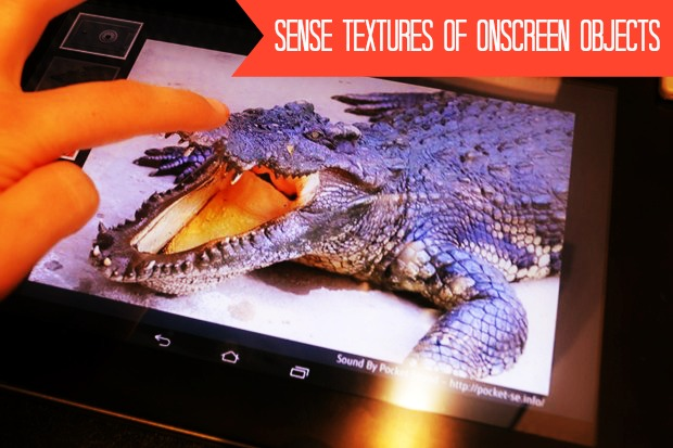 A New Technology Marvel with ability to touch Objects Virtually on screen using texture modification using Fujistsu tablets