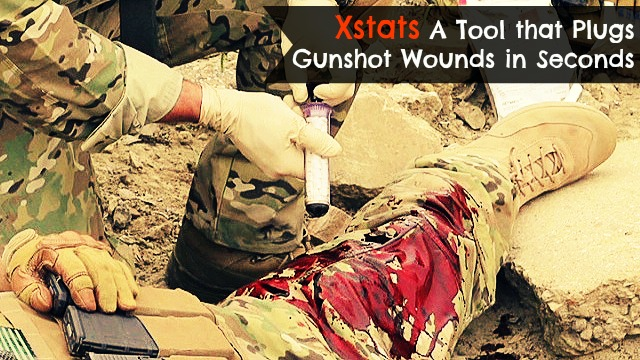 Xstats a Revolutionary new tool for Medics in saving lives in battlefields by using it to stop gunshot wounds in seconds