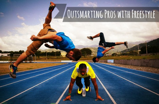 How to Outrun a Professional Sprinter by Outsmarting them with Freestyle