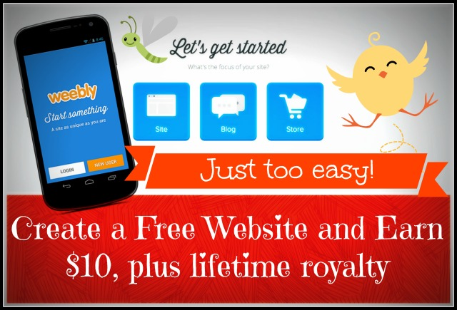 Create a Free Website and Earn $10, plus lifetime royalty