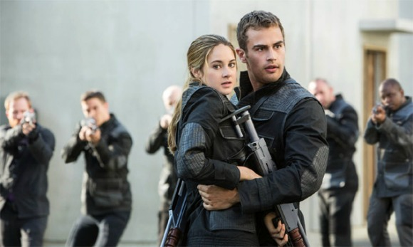 Tris and Four caught by Dauntless while trying to infiltrate the invasion | divergent 2014 movie review and recommendation via geniusknight.com scifi movies