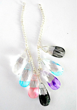 Make Mothers Day Painted Glass Statement Necklace