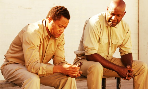 Eugene Brown and the Chessman in Prison where they exchange their lifes of a king via chess | life of a king 2014 movie review