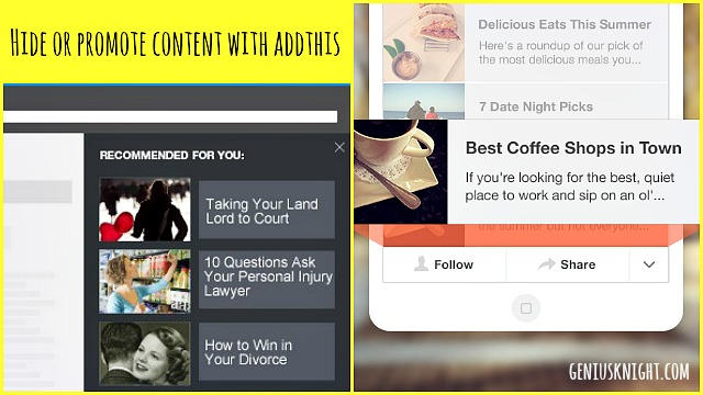 How to Hide or Promote Content in AddThis Recommendation Widgets