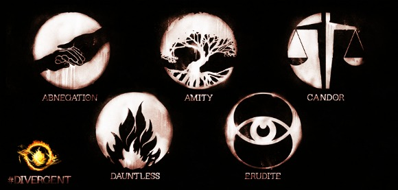 The Factions consisting of 5 groups mainly Abnegation, amity, candor, dauntless and Erudite | Divergent 2014 movie review and recommendations