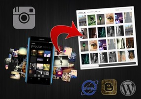 embeding Instagram photos or videos on any website or blog
